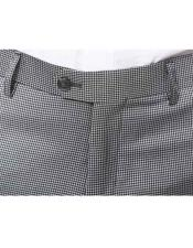 JSM-3045 Mens Pleated or Flat Front Houndstooth Tweed Pattern