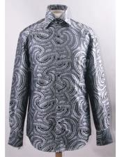 JSM-5836 Mens High Collar Fashion ~ Shiny ~ Silky