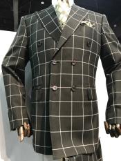 JSM-5231 Mens Black and White Pattern Plaid ~ Windowpane