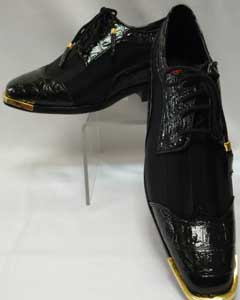 AF-485 Cool Liquid Jet Black Wingtip Style Satin Goldtip
