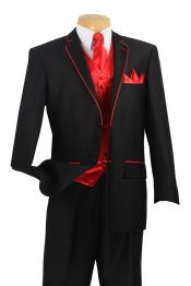 RH8A 5 Piece Tuxedo Elegance Suit - Fancy Trim