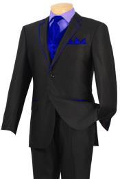 YBD3 Tuxedo Liquid Jet Black royal blue pastel color