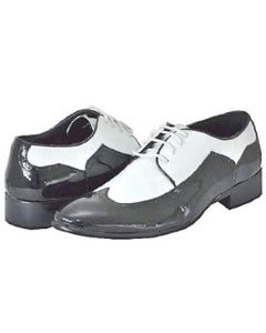 CN5277 Liquid Jet Black White Dress Mens Shoes for