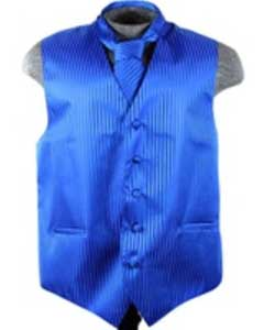 VS6253 Vest Tie Set Blue