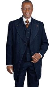 PN-T53 Blue Denim Vested Urban attire Suit For sale