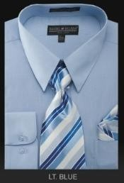 KL0282 Dress Shirt - PREMIUM TIE - Light Blue