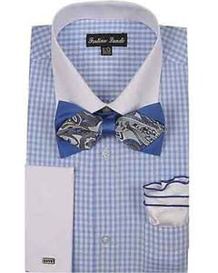 Blue Checks Design With Bow