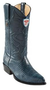 KA6733 Wild West Blue Jean J-Toe Teju Lizard Cowboy