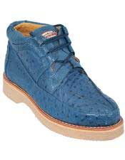 JSM-3274 Mens Los Altos Stylish Blue Jean Full Ostrich