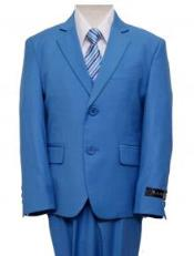 RBL0172 Single Breasted Boys Suits For Teenagers Royal Blue
