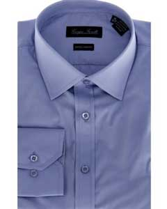 KA6986 Blue Slim-Fit Dress Shirt