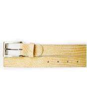 GD1765 Mens Bone Genuine Lizard Belt