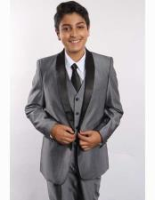 Boys Two Toned Shawl Lapel