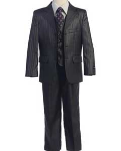 SM416 3 Button Style Notch Lapel Kids Boys Kids