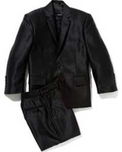PN76 Shiny Flashy Silver Liquid Jet Black Sharkskin Kids