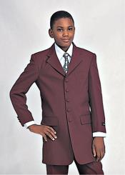 Boys Church Suit Burgundy