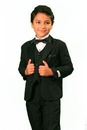TU3088 Boys 3 Piece Fashion Designer Tuxedo Liquid Jet