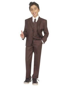 Boys Brown Suit