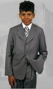 43001 B-100 Gray Boys Dress Boys And Men Suit