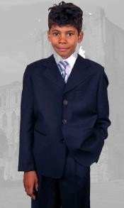 B-100 Navy Boys Dress Boys