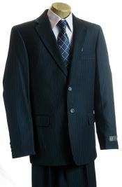 Kids Boys Navy Pinstripe 2