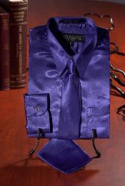 WES131 Kids Boys Purple color shade Satin Dress Shirt