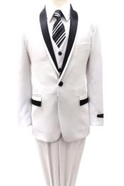 SS-94 Kids Boys Shawl Collar Tuxedo 3 Piece Two