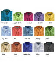 PNK68 Kids Boys Kids Dress Shirt Set Shiny Satin