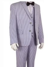 CH1970 Cheap priced Mens Seersucker Suit Sale Blue Boys