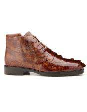 JSM-5754 Mens Genuine Hornback and Genuine Ostrich Lace Up