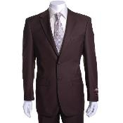 brown color shade 2-button Suit