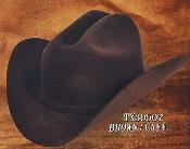 PN_O51 Cowboy Western Hat 4X Felt Hats brown color