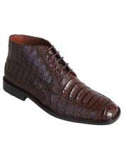JSM-3282 Mens Los Altos Stylish Exotic Caiman Crocodile Belly
