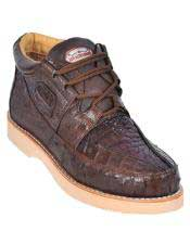 JSM-3276 Mens Los Altos Stylish Brown Genuine Caiman &