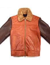Brown/Cognac Alaska Bomber Shearling