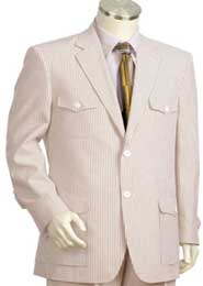Seersucker Suit Cotton Summer Cheap priced