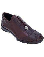 JSM-5008 Mens Genuine Ostrich Leg Lace Up Los Altos