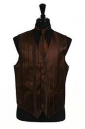 Vest/Tie/BowtieSets(browncolorshadeToneonTone)