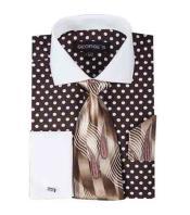 SM1206 100% Cotton brown color shade Polka Dot Pattern