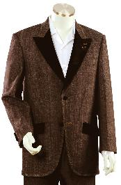 NR5679 Mens Stylish Brown Fashion Unique 1920s tuxedo style
