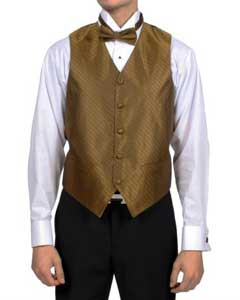 PN63 Sahara Bronze Diamond Pattern 4-Piece Vest Set