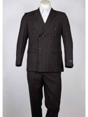 Men's Pinstripe brown color shade