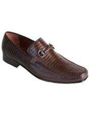 JSM-4937 Mens Slip On Loafer Style Genuine Lizard Los