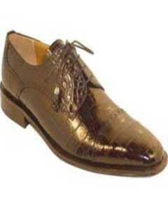PK7400 Genuine Alligator skin Shoes for Online Chocolate