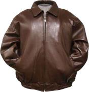color shade Leather Bomber