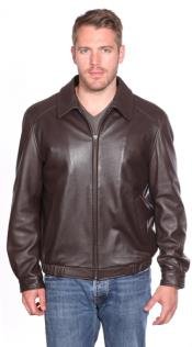 mens brown Walden Leather Bomber