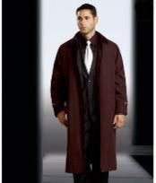 MP9009 Polyester/Nylon Long Rain Coat-Trench Coat Brown(Snap Off Liner)