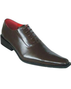 SM920 Men's Oxford Leather brown color shade Pointed Toe