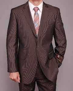 DF5560 brown color shade Micro-Stripe ~ Pinstripe 2-button Suit