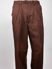 SM931 Men's Wide Leg Pleated Slacks brown color shade